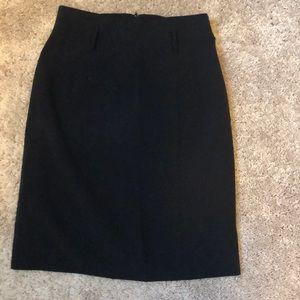 Black Juniors pencil skirt with large belt loops